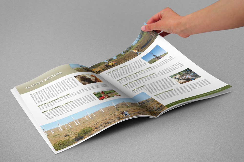 Applied Earthworks Capabilities Brochure with Folder system