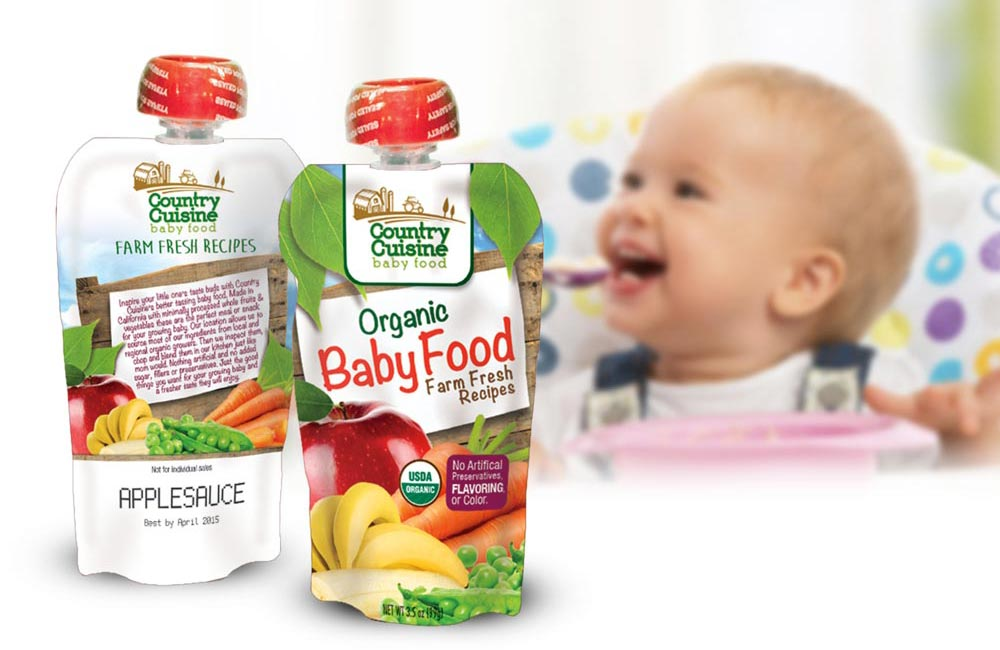 One of many Baby Food pouch Packaging