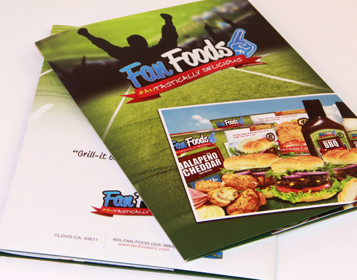 Fan Foods Products and Capabilities Brochure with Container