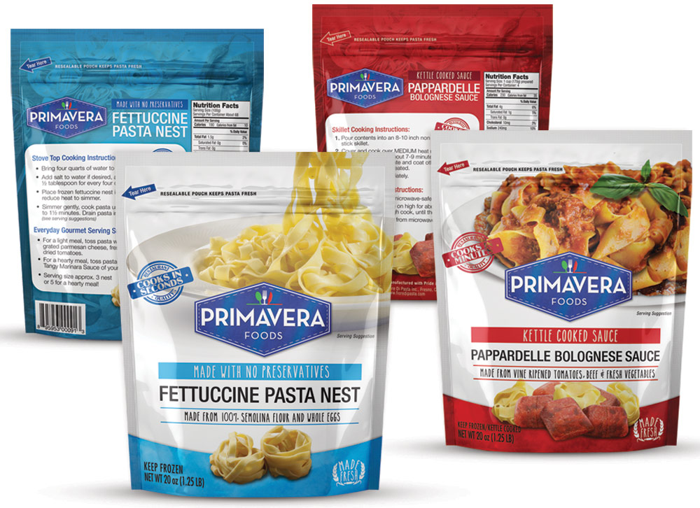 Primavera Foods Packaging Design