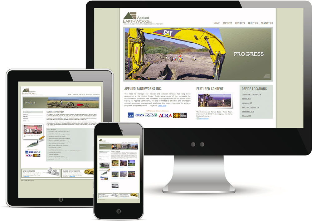 Applied Earthworks Website Redesign