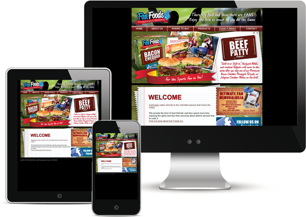 Fan Foods Website and Brand Platform Design